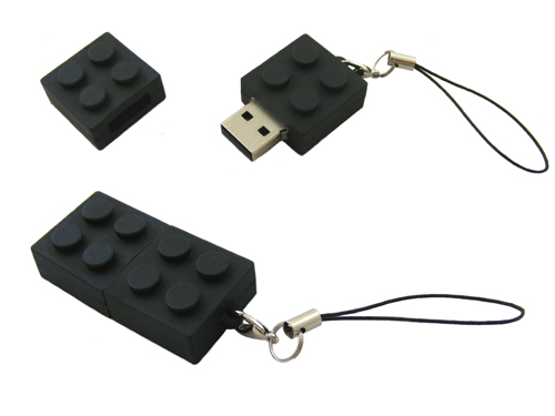 USB Flash Drive Memory Stick 4GB USB Building Block Brick Black Windows
