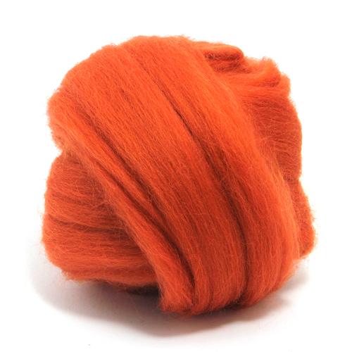100g Dyed Merino Wool Top Sunset Orange Dreads Needle Spinning Felting Roving