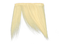 "Clip-In Fringe - 8"" Human Hair - #613 Bleach Blonde"