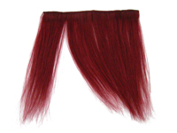 "Clip-In Fringe - 8"" Human Hair - Blood Red"