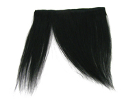 "Clip-In Fringe - 8"" Human Hair - #1 Jet Black"
