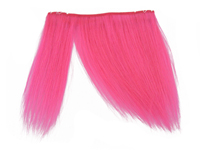 "Clip-In Fringe - 8"" Human Hair - Neon Pink"