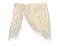 """Clip-In Fringe - 8"""" Human Hair - Silver Blonde"""