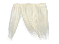 "Clip-In Fringe - 8"" Human Hair - Snow White"