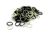 Pack of 250 Mini Rubber Bands (Black / Blonde)