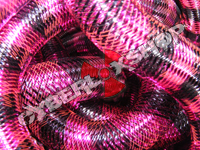 Tubular Crin - Large - Black Fuchsia Stripe (5 yds)