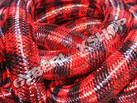 Tubular Crin - Large - Black Real Red Stripe (5 yds)