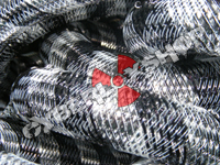 Tubular Crin - Large - Black Silver Stripe (5 yds)