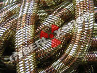 Tubular Crin - Large - Cocoa Gold Metallic Stripe (5 yds)