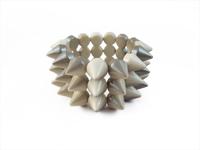 Cyber Spike Bracelet - Creamy Silver (Multi-Tone)