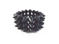 Cyber Spike Bracelet - Jet Black