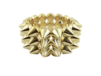 Cyber Spike Bracelet - Metallic Gold
