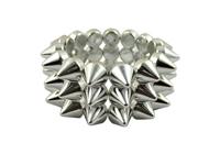 Cyber Spike Bracelet - Metallic Silver