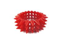 Cyber Spike Bracelet - Neon Red