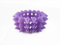 Cyber Spike Bracelet - Purple