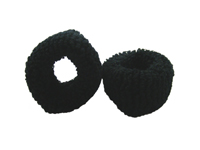 Black Hair Donut Bobbles