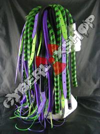 DuoWeb - Purple / Green Cyberlox Wig