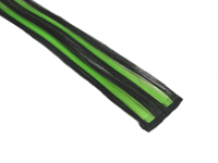 "Clip-In Extensions - Black / Neon Green / Black 12"" (pack of 2)"