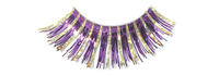 Stargazer False Eyelashes #23 (Purple with Gold Hologram Foil)