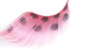 Stargazer False Eyelashes #65 (Extra Long Pink with Black Spots)