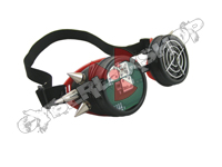 Cyber Goggles - Black & Red with Cyber Spikes / Circuit Board & Fan Grill