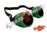 Cyber Goggles - Alien Green - Includes FREE Lense Design Inserts!