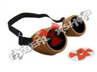 Cyber Goggles - Dark Caramel - Includes FREE Lense Design Inserts!