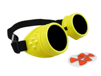 Cyber Goggles - Fluorescent Yellow - Includes FREE Lense Design Inserts!