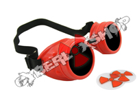 Cyber Goggles - Hot Red - Includes FREE Lense Design Inserts!