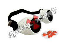 Cyber Goggles - Ice White - Includes FREE Lense Design Inserts!