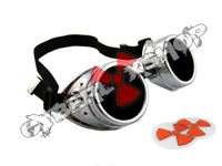 Cyber Goggles - Metallic Silver - Includes FREE Lense Design Inserts!