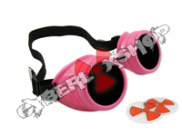 Cyber Goggles - Neon Pink - Includes FREE Lense Design Inserts!