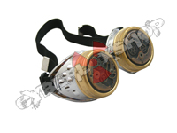 Cyber Goggles - Steampunk Metallic Silver Watch Movement