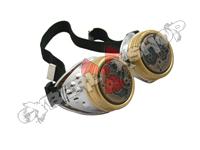 Cyber Goggles - Steampunk Metallic Silver Watch Movement