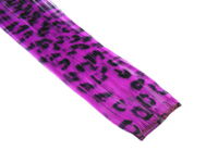 "Clip-In Extensions - Fuchsia / Black Leopard 12"" (pack of 2)"