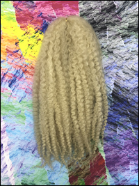 CyberloxShop Marley Braid Afro Kinky - #613 Bleach Blonde