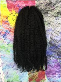 CyberloxShop Marley Braid Afro Kinky - #1 Jet Black