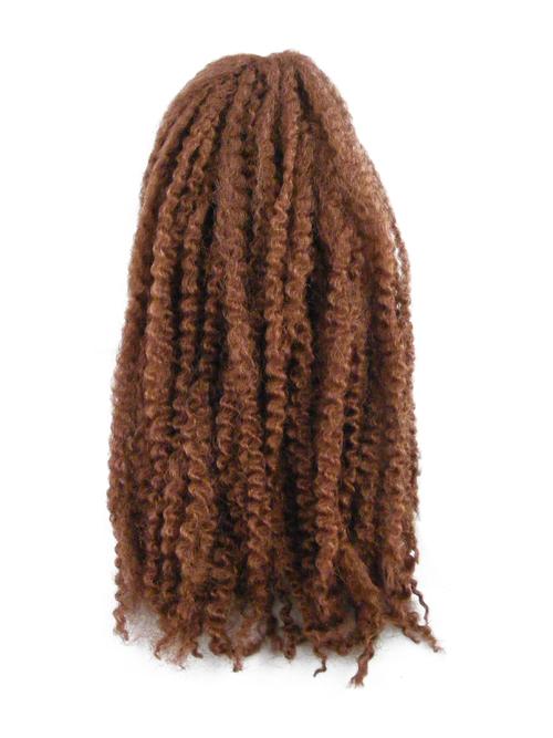 CyberloxShop Marley Braid Afro Kinky - #30 Dark Reddish Brown