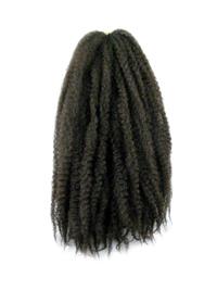 CyberloxShop Marley Braid Afro Kinky - #4 Dark Brown