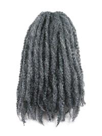 CyberloxShop Marley Braid Afro Kinky - #44 Gun Metal Grey