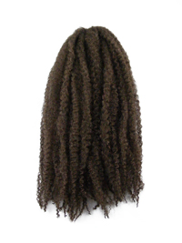 CyberloxShop Marley Braid Afro Kinky - #6 Medium Brown