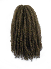 CyberloxShop Marley Braid Afro Kinky - #8 Light Brown