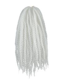CyberloxShop Marley Braid Afro Kinky - Silver White
