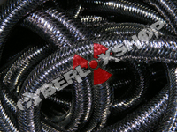 Tubular Crin - Mini - Black Metallic (5 yds)