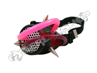 Mono Goggles - Ultra Black with Cyber Spikes / Pink & Violet Tubing