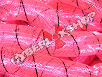 Tubular Crin - Large - Neon Fuchsia with Black Thread (5 yds)