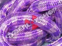 Tubular Crin - Large - Purple Pink Stripe (5 yds)