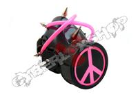 Cyber Respirator - Black / Pink Tubing / Peace