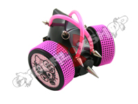 Cyber Respirator - Black / UV Pink Tubing / Steam Kitty