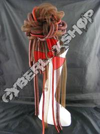 Cyberlox Scrunchie - Brown / Red